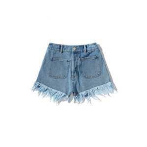 jouetie Frayed hem denim shorts