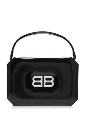 Logo Patent Leather Top Handle Bag By Balenciaga | Moda Operandi