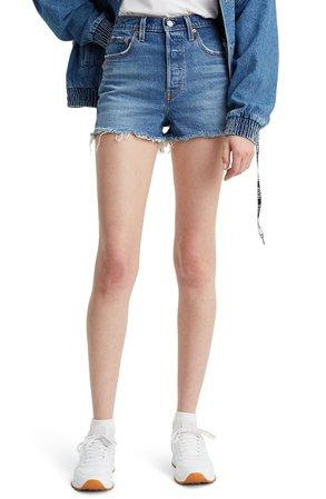 Levi's® Ribcage High Waist Cutoff Denim Shorts | Nordstrom