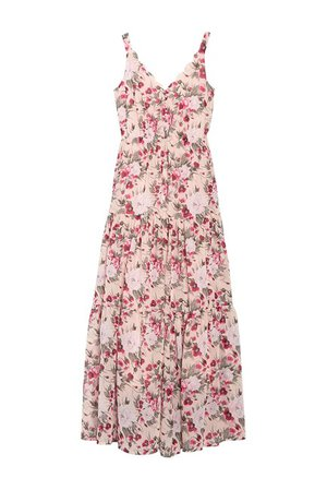 MELLODAY | Scallop Trim V-Neck Floral Print Dress | Nordstrom Rack