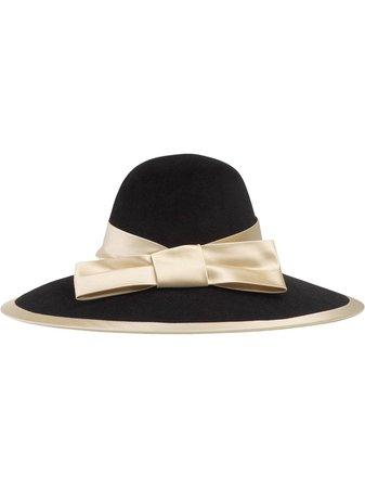 Gucci Satin Ribbon Wide Brim Hat - Farfetch