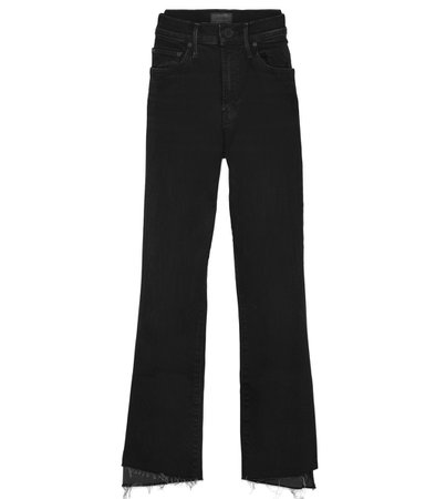 Mother The Insider Crop Step Fray Jean in Not Guilty - ShopBAZAAR