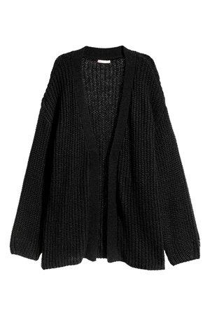 Loose-knit Cardigan - Black - Ladies | H&M US
