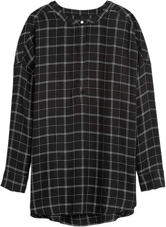 JAPAN EXCLUSIVE Oversized Flannel Tunic