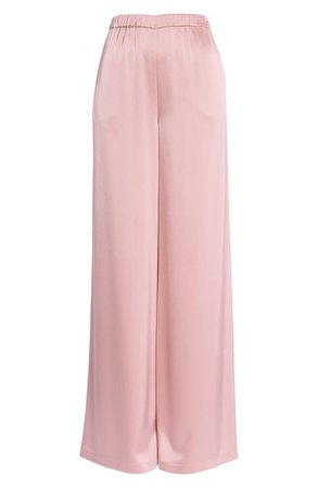 St. John Evening Elastic Waist Liquid Satin Pants | Nordstrom