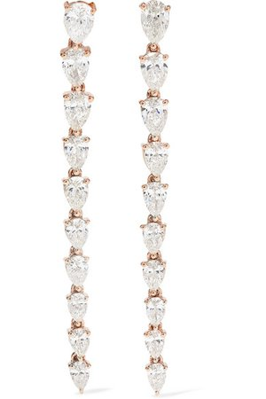 Anita Ko | 18-karat rose gold diamond earrings | NET-A-PORTER.COM