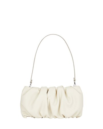 STAUD Bean Ruched Leather Bag | INTERMIX®