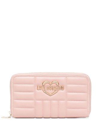 Love Moschino Quilted zip-around Wallet - Farfetch