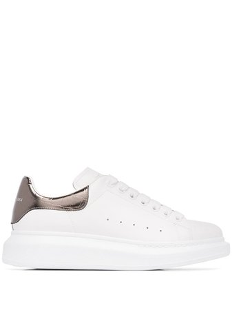 White Alexander Mcqueen Oversized Low Top Sneakers. | Farfetch.com