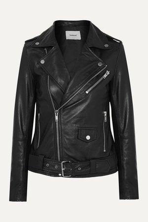 Net Sustain Classic Biker Leather Jacket - Black