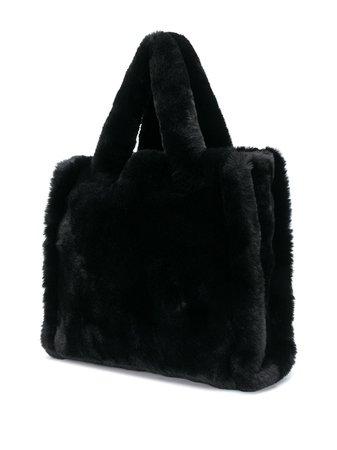 Black STAND STUDIO Lolita faux-fur tote