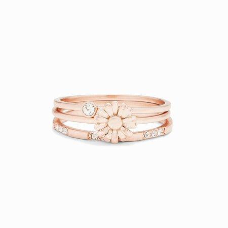 Daisy Pickin' Ring Stack | Pura Vida Bracelets