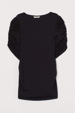 MAMA Puff-sleeved Top - Black