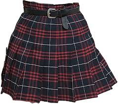 plaid edgy skirt