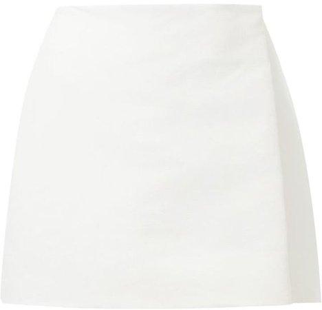 Zaid Affas wrap mini skirt