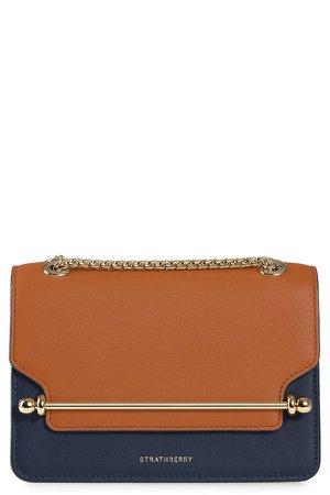 Mini East/West Colorblock Leather Crossbody Bag