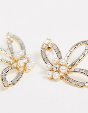 True Decadence pearl and crystal floral earrings | ASOS