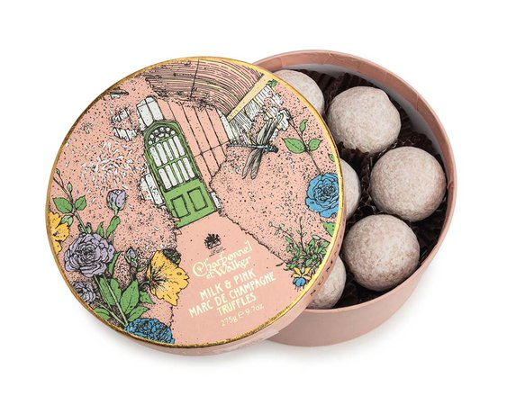 Summer House Milk and Pink Marc de Champagne Truffles - Charbonnel et Walker – Britain's First Luxury Chocolatier. Fine Chocolates and Truffles, established in 1875.