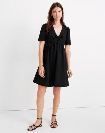 Tie-Front Mini Dress
