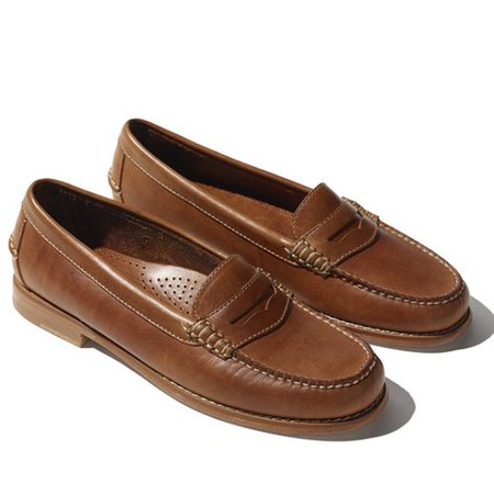 Women's LL Bean Leather Penny Loafers