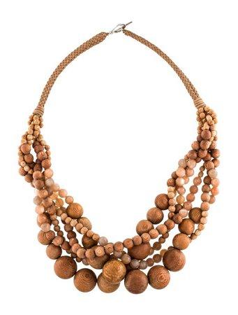 Brunello Cucinelli Sunstone & Wood Collar Necklace - Necklaces - BRU81348 | The RealReal