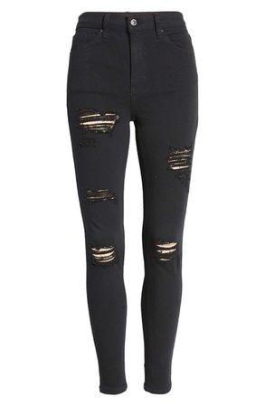 Topshop Jamie High Waist Super Ripped Skinny Jeans | Nordstrom