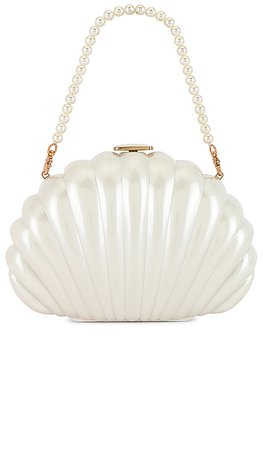 House of Harlow 1960 x REVOLVE Clam Shell Clutch in Pearl   REVOLVE