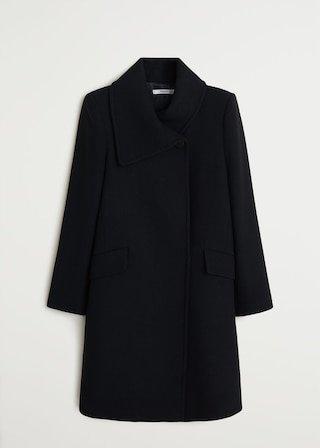 Wide lapel coat - Women | Mango USA