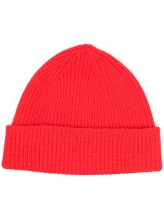 Le Bonnet ribbed-knit beanie red CRISMON - Farfetch