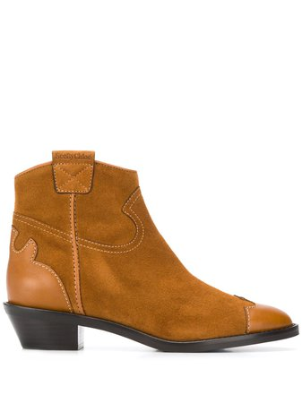 See By Chloé Western Ankle Boots - Farfetch