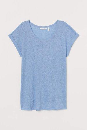 MAMA Linen T-shirt - Blue
