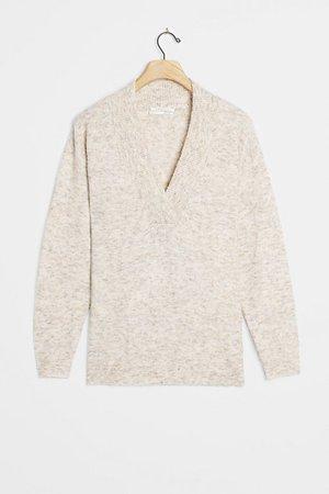Tatum V-Neck Sweater   Anthropologie
