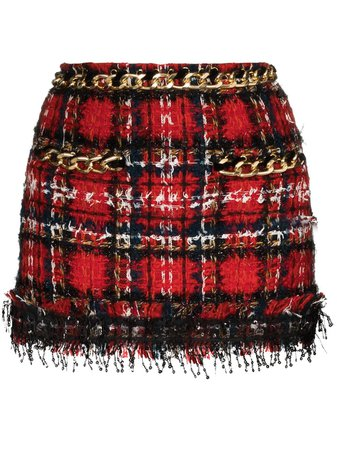 Balmain Sequin Tweed Mini Skirt - Farfetch