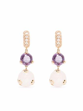 Pasquale Bruni 18kt Rose Gold Sissi Diamond Drop Earrings - Farfetch