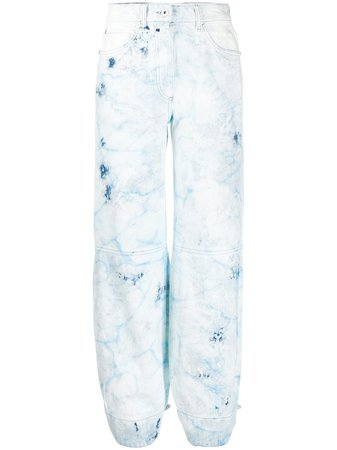 Off-White Bleached Tapered Jeans Ss20 | Farfetch.com