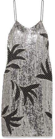 Harriet Embellished Sequined Tulle Dress - Silver