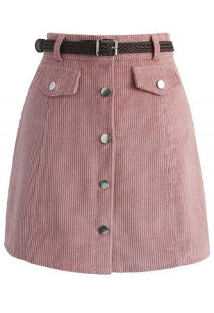 Edgy Appeal Bud Skirt in Pink