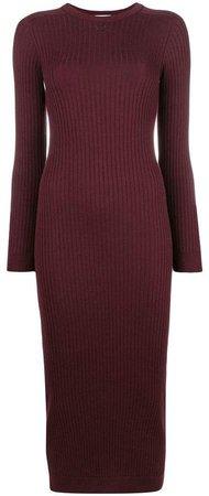 rib knit fitted dress