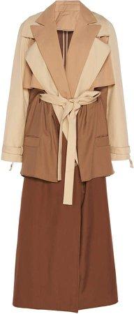 Marta Jakubowski May Layered Wool Trench Coat Size: S