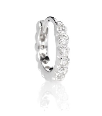 Eternity 18Kt White Gold Single Earring With Diamonds   Maria Tash - mytheresa