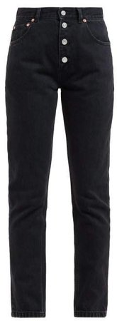 Tube High Rise Straight Leg Jeans - Womens - Black