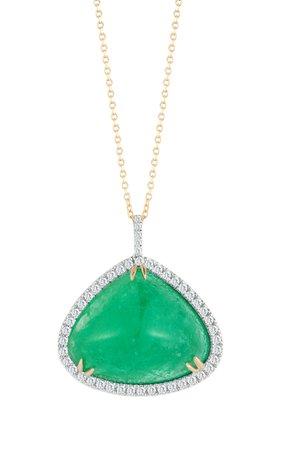 Mateo x Muzo 14K Gold Emerald Necklace