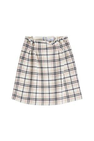 Plaid Skirt with Wool Gr. FR 40