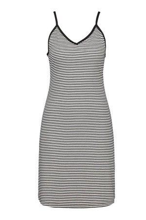 Striped Strappy Swing Dress   boohoo