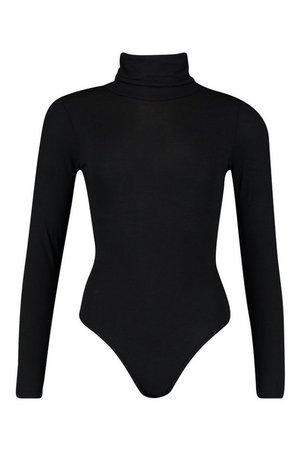 Roll Neck Jersey Bodysuit | Boohoo