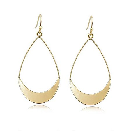 Amazon.com: Lightweight Dangle Earrings Simple Earrings Gold Teardrop Earrings for Women: Jewelry