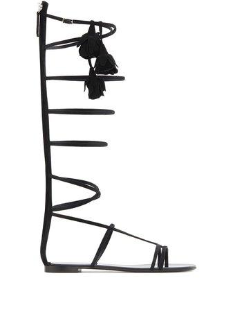 Giuseppe Zanotti Danse Du Feu gladiator sandals black E000131001 - Farfetch