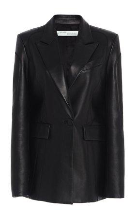 Leather Fitted Blazer by Off-White c/o Virgil Abloh   Moda Operandi