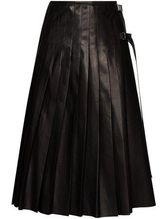 Prada Pleated Midi Skirt - Farfetch