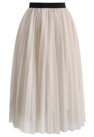 Dreamy Mesh Pleats Tulle Skirt - Skirt - BOTTOMS - Retro, Indie and Unique Fashion
